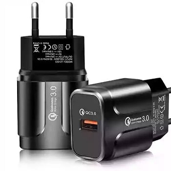 Oferta Flash! Carregador Quick Charge 3.0A 18W só 1,5€