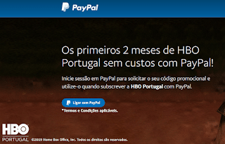HBO Portugal e PayPal