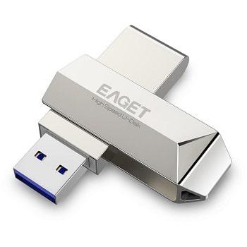 Melhor preço! Pendrive Eaget de 128GB, interface USB 3.0 por 11,6€