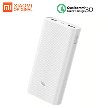 Power bank xiaomi 3.0 com duas saidas USB