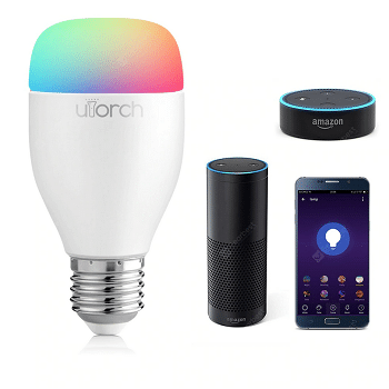 Desconto Gearbest! Utorch Smart LED E27 controlo por WiFi por 9,30€