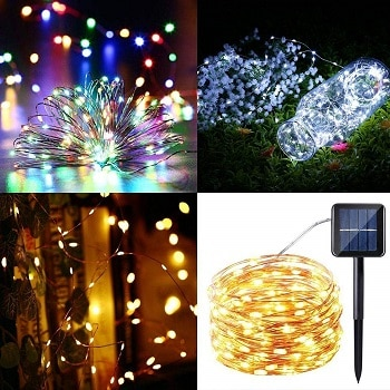Oferta Amazon! Luzes solares com 100 LED por 6,7€