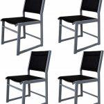 Oferta Amazon! Jogo de 4 cadeiras em alumínio para jardim por 51€