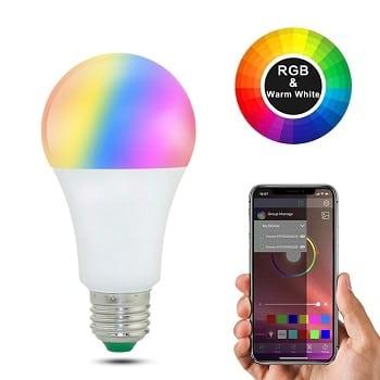 Oferta AliExpress! Lâmpada RGBW Bluetooth por 4,5€