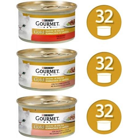 96 latas Purina Gourmet Gold para gatos por 25,8€