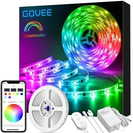 Desconto Amazon! Fita LED RGB de 3mt com App + Comando + adaptador por apenas 15,3€