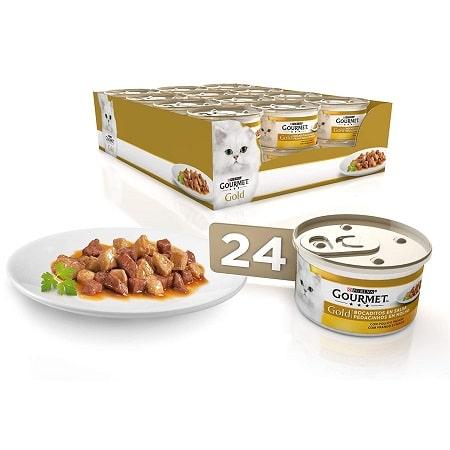 Em promoção! 24 latas Purina Gourmet Gold para gatos por 9,49€* desde Amazon