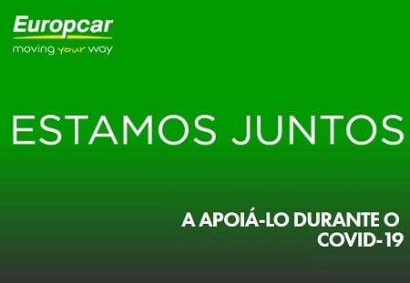 "Programa Europcar ""ESTAMOS JUNTOS"" alugueres a partir de 5€ dia"