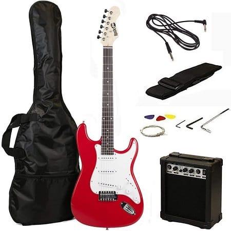 Superkit! Guitarra eléctrica + amplificador + cordas + correia + bolsa + cabo por apenas 81€