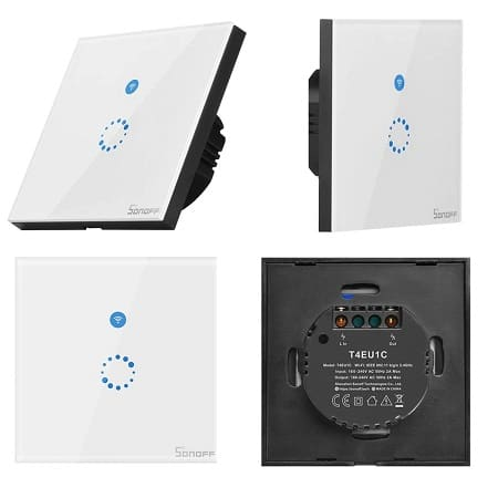 SONOFF T4EU1C Interruptor touch de parede por 12,41€