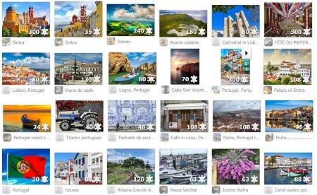 Grátis online! Puzzles de 300 peças online cidades Portuguesas