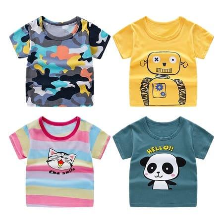 T-Shirts para crianças com vários estampados e cores por apenas 2,39€