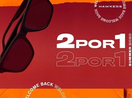 """Prepara-te para o verão com a HAWKERS compra 2 óculos de sol e paga só 1 + 5% desconto + """"Carro"""""""
