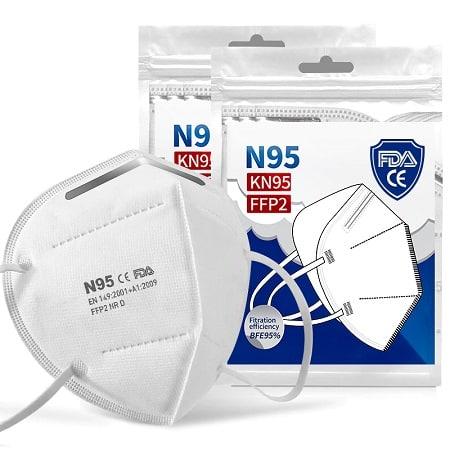 10 Mascaras KN95 FFP2 por 7,02€ com envio de armazéns Europeus