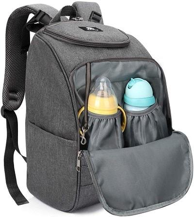Mochila de viagem para bebés, portátil e multifuncional, Mochila para fraldas, garrafas térmicas e Biberões por 14,99€