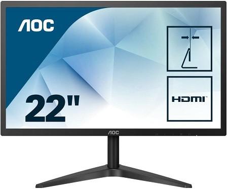 Oferta Amazon! Monitor AOC 22B1H de 22″ FHD por 75,00€