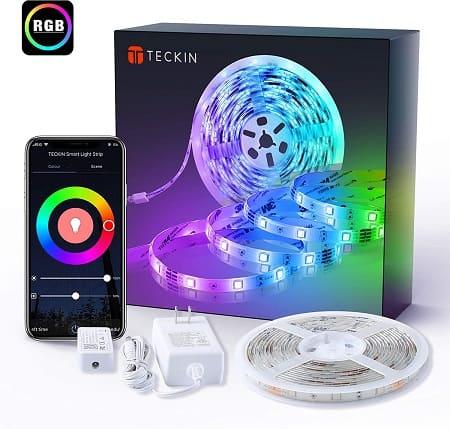 Fita LED RGB 5 mt com controlo por APP ou voz por apenas 17,93€