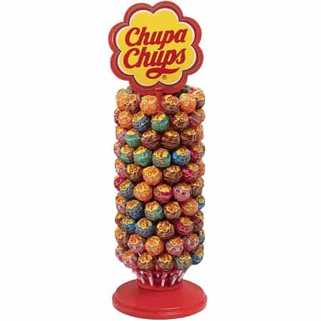 Roda de 120 unidades de Chupa Chups Original com vários Sabores por 20,16€
