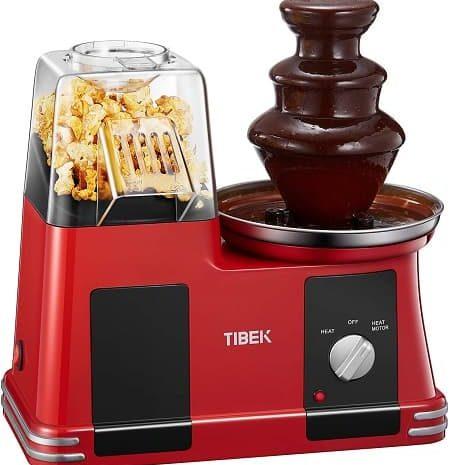Máquina de pipocas sem gordura + fonte de chocolate por 34,26€