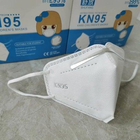 50 Máscaras KN95 para criança dos 3-10 anos por 23,85€