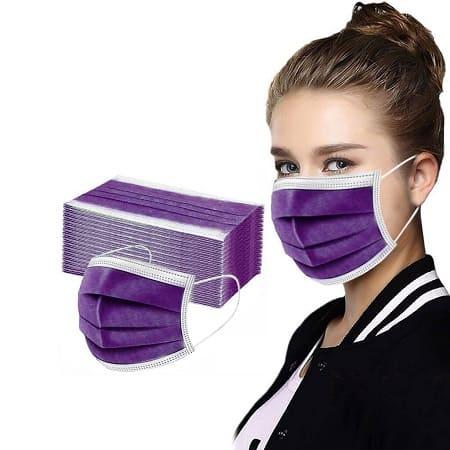 50 Máscaras de tecido descartáveis de 3 capas por 1,88€