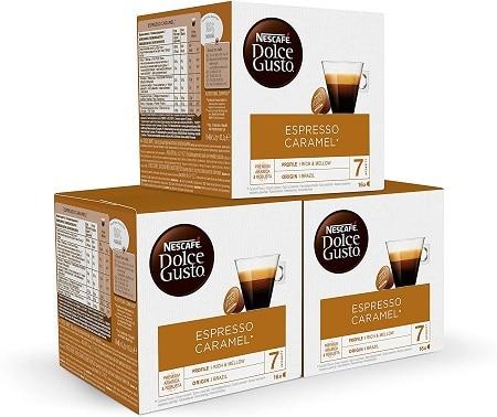 Rebaixa Amazon! Dolce Gusto Espresso Caramelo 48 Cápsulas por 9,69€