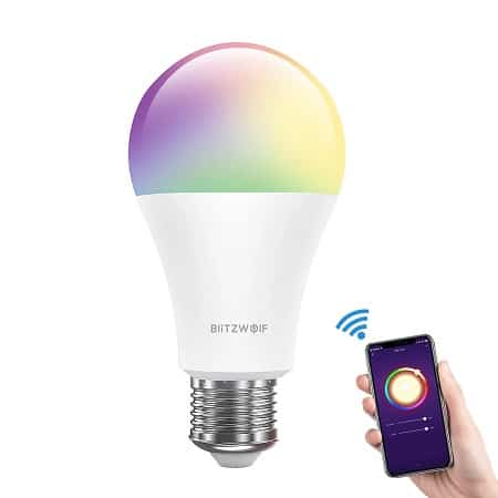 Coupon Amazon! Lâmpada Inteligente RGBW BlitzWolf® 10W E27 desde  Europa por 11,89€*