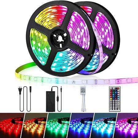 Oferta Amazon! 10 mt Fita LED RGB Controlo por APP + Comando por 10,79€*
