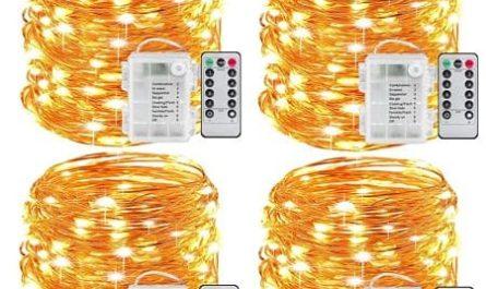 Grirnalda-de-luzes-com-bateria-100LED-temporizador-Controlo-remoto