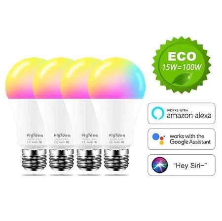 Pack de 4 Lâmpadas LED RGB 15W desde Espanha por 30,66€ ou por 24,44€ desde a China