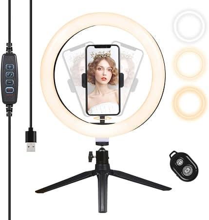 Cupão Amazon! Anel LED para Selfies e Vlogs por apenas 15,59€*