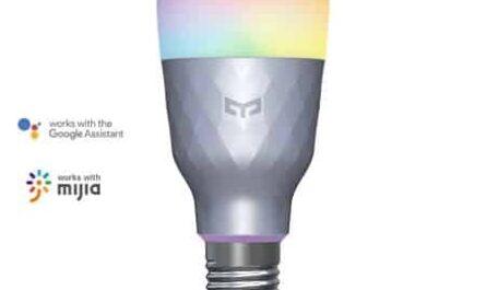 Yeelight-Lampada-LED-inteligente-1SE-E27-luz-colorida-RGB-de-6W-con-Control-de-voz