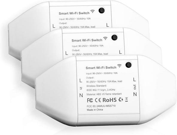 Pack de 3 Interruptores inteligentes WiFi, desde Amazon Espanha a 13,99€