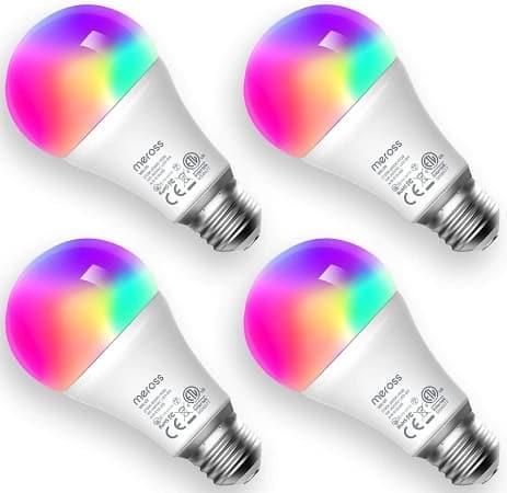 Pack de 4 Lampadas RGB Meross desde Espanha a 28€