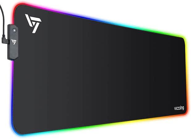 Rebaixa Amazon! Tapete VicTsing XL RGB desde Espanha por 13,53€