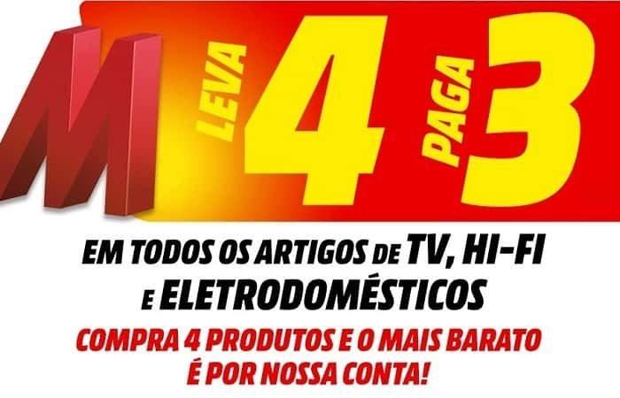 Top Promoção Media Markt Leva 4 paga 3, Numa Grande Variedade de Artigos!