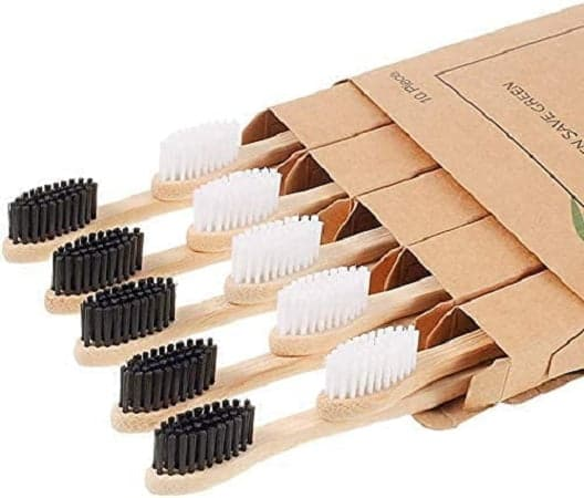 10 Escovas de dentes de bambu ecológica 100% livre de BPA por 5,49€