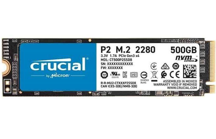 SSD M.2 CRUCIAL De 500 GB Por Apenas 47,99€