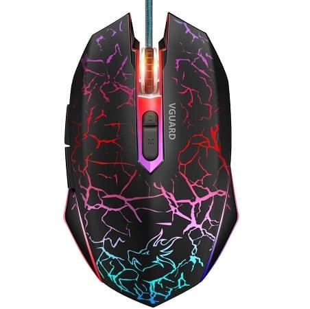 VGUARD Wired Optical Gaming Mouse desde Espanha, só 6,73€