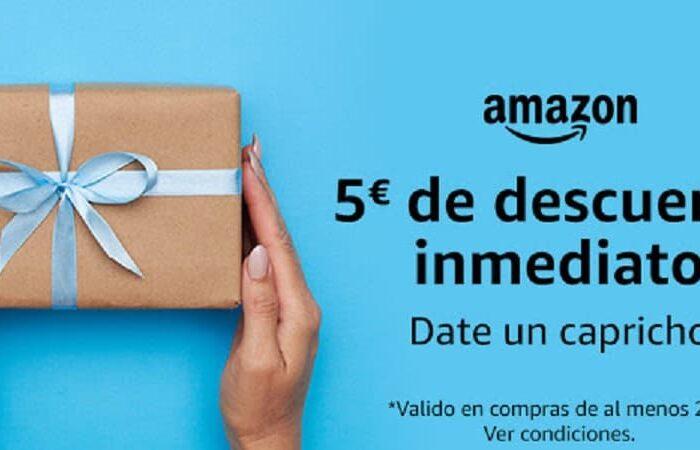 Promoção Amazon, 5€ de Desconto em compras +25€ só para  contas selecionadas!