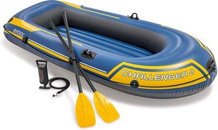 Artigos aquaticos Barco insuflável com remos e bomba, Challenger 3