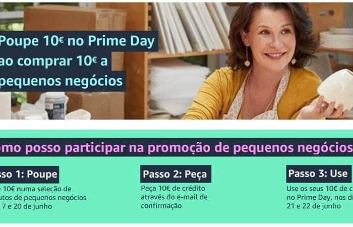PROMO AMAZON Gasta 10€ agora e recebe 10€ Grátis para gastares durante o Prime Day