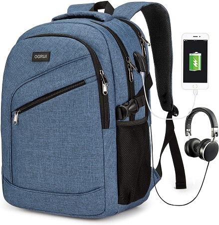 Mochila Para Laptop de 15.6″ + porta USB + Jack 3.5mm a 13€