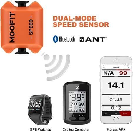 Velocímetro sem fios com conectividade Bluetooth e ANT+ desde Espanha por 9,69€