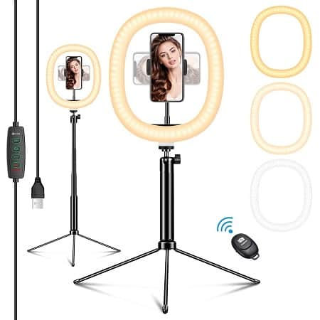 Oferta Amazon! Anel de Luz para Fotos e Vídeos de 12″ por 5,2€