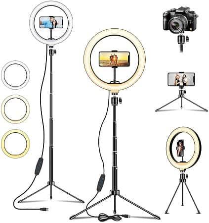 Desde Amazon! Anel LED para Selfies e Vlogs por apenas 4,35€