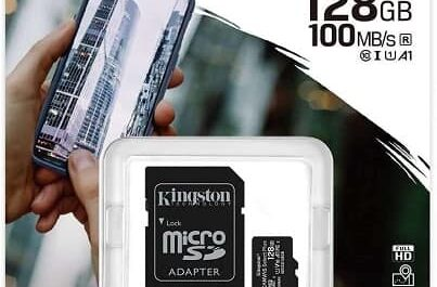 Cartão MicroSD Kingston Classe 10 128GB + adaptador SD