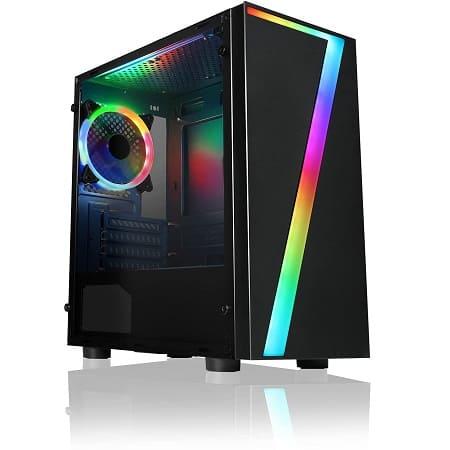 CiT Seven MATX RGB Gaming Case, Micro-ATX & Mini ITX só 24,1€