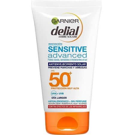 Garnier Delial Sensitive Advanced Protector Solar Facial SPF50+ 100ml por 7,6€