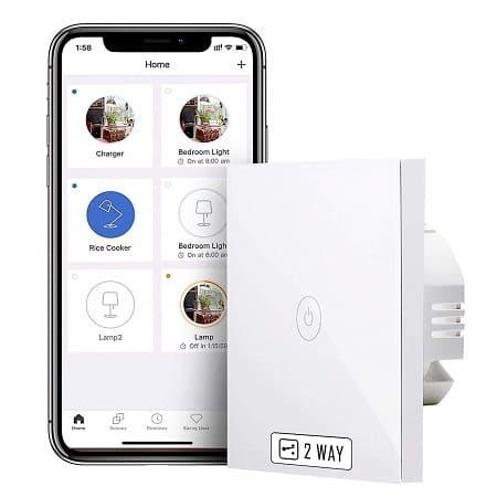 Oferta Amazon! Interruptor Táctil WiFi só 10,42€